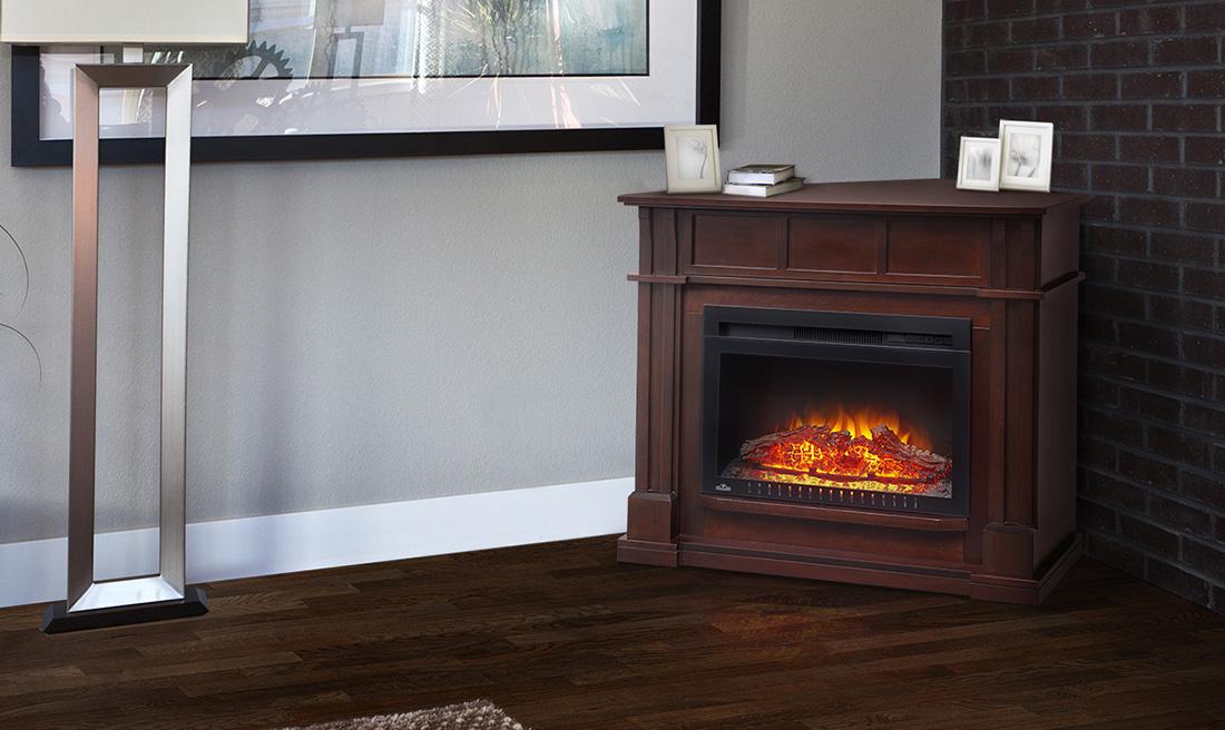 bailey mantel corner image - Electric Fireplace Mantels