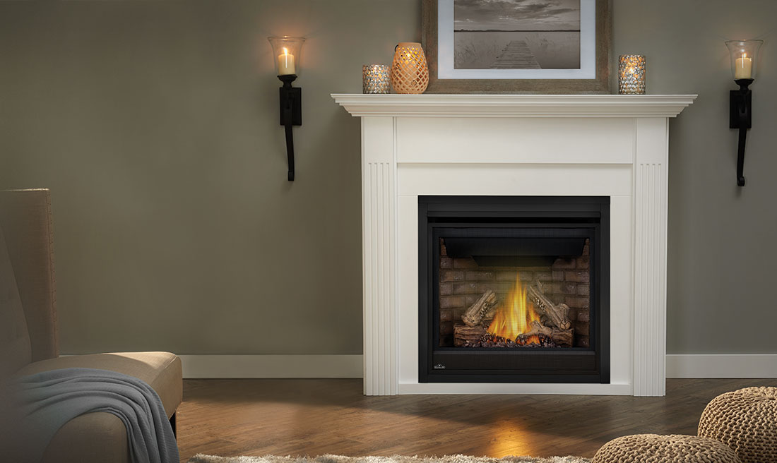 Bonaparte Gas Fireplace Mantel by Napoleon