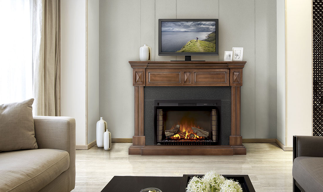 Electric Fireplace sears electric fireplaces : The Braxton Electric Fireplace Mantel Package by Napoleon | NEFP29 ...