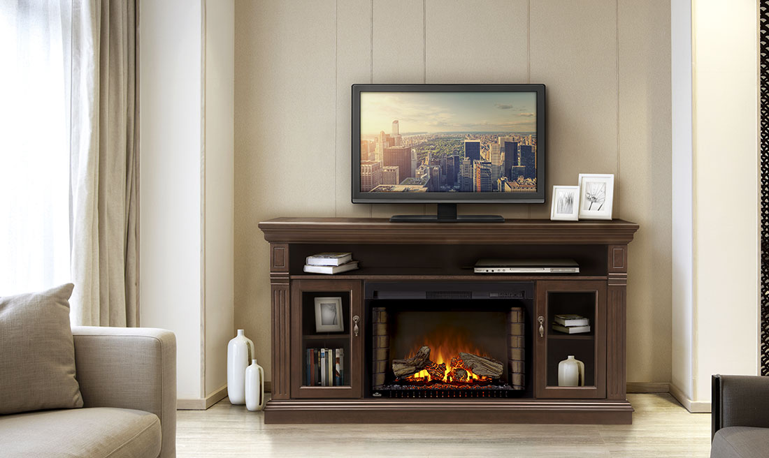 electric fireplace package - Electric Fireplace With Mantel