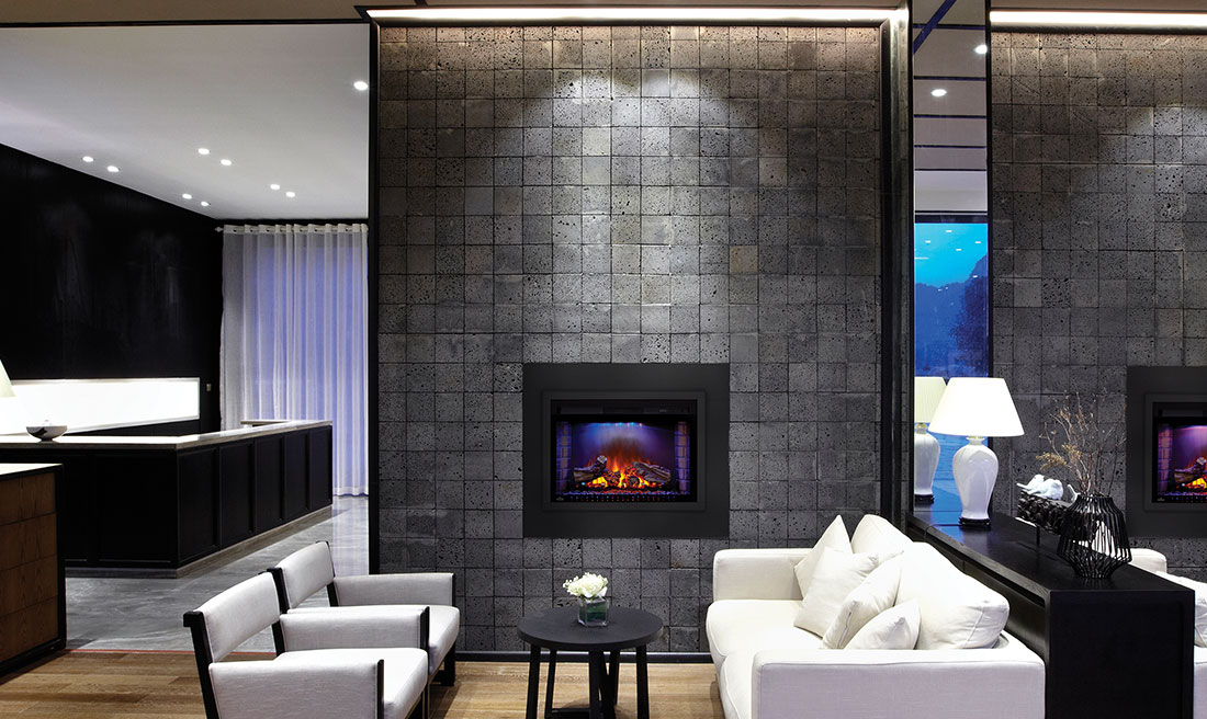 Built-In Electric Fireplace - Napoleon Cinema Log 29 Electric Fireplace NEFB29H-3A