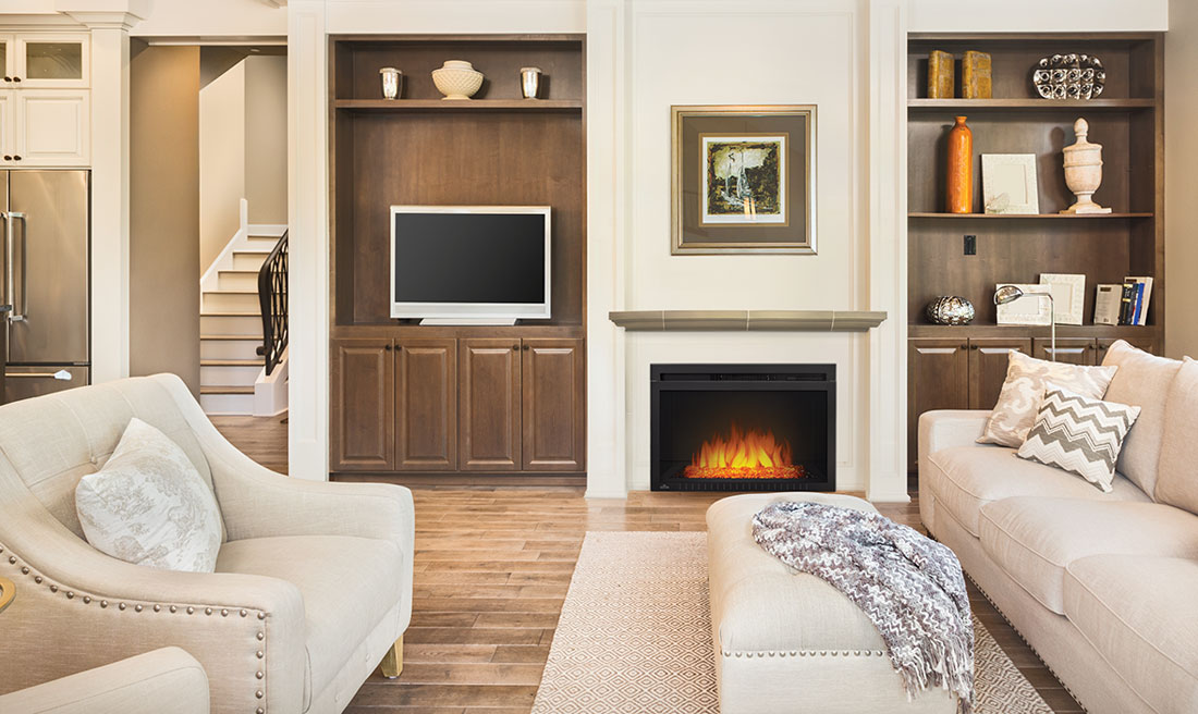 Cinema Glass 29 Electric Built-In Fireplace