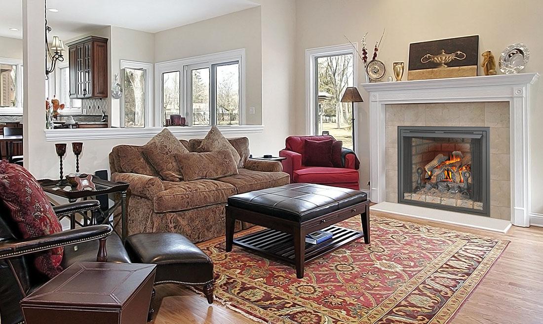 Fireplace Design unvented fireplace : Napoleon Fiberglow VF 24 Vent Free Gas Log Set | GVFL24