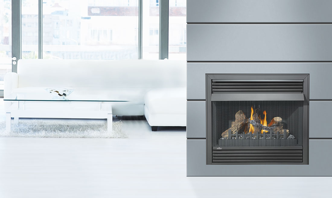 Fireplace Design unvented fireplace : Napoleon Grandville VF 36 Vent Free Gas Fireplace | GVF36