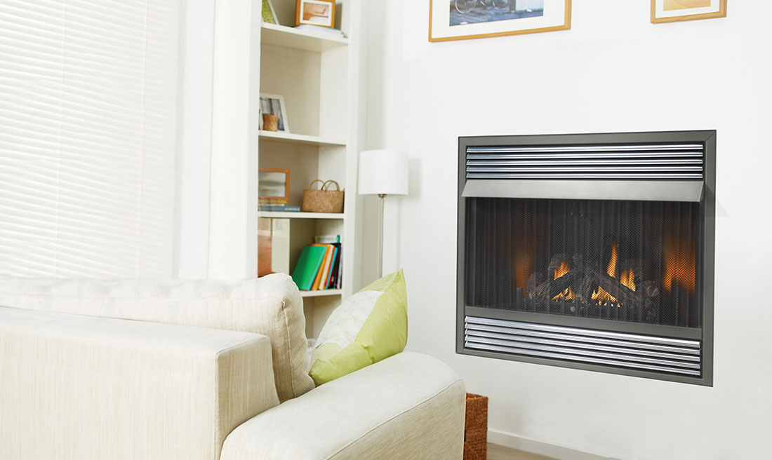 Fireplace Design unvented fireplace : Napoleon Grandvillle VF 42 Vent Free Gas Fireplace | GVF42