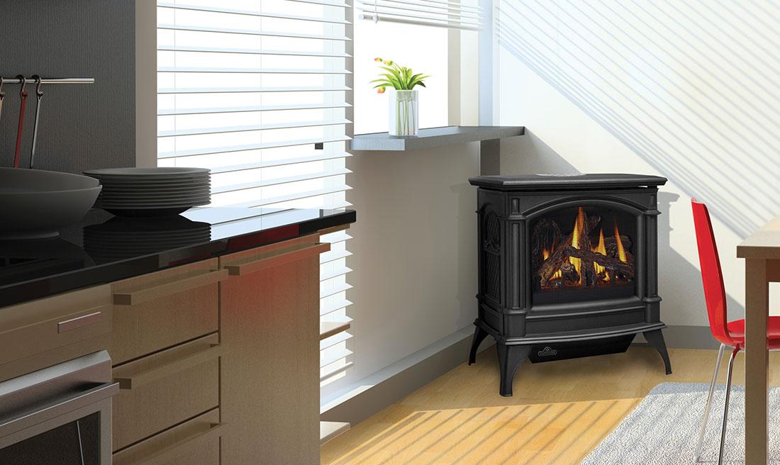 Fireplace Design unvented fireplace : Napoleon Knightsbridge VF Vent Free Gas Stove | GVFS60