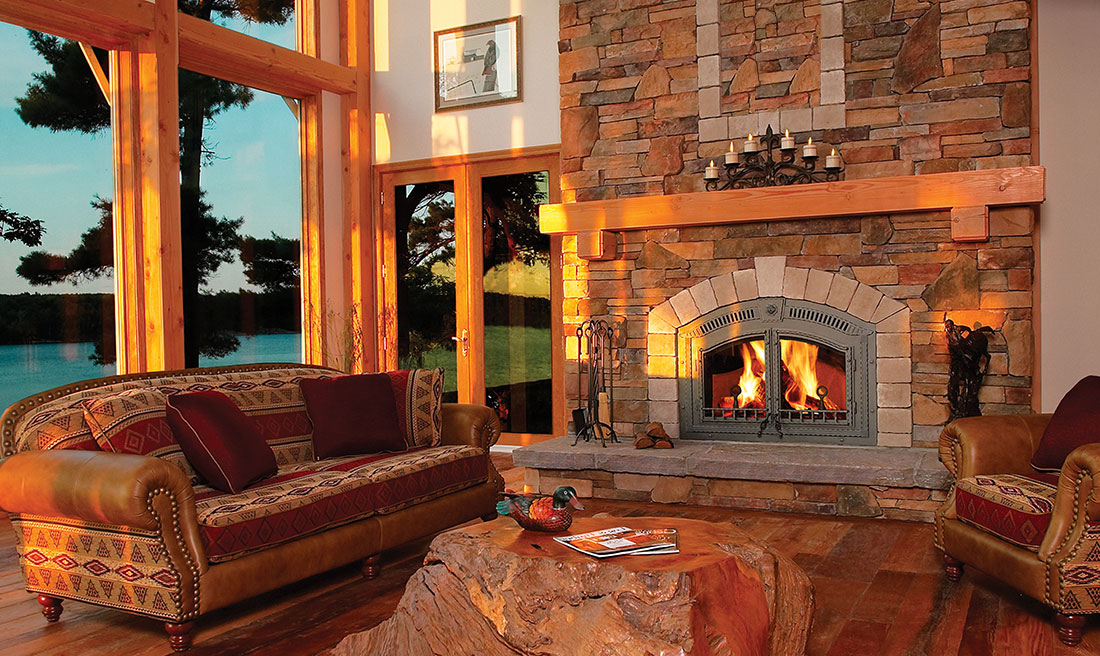 Fireplace Design high efficiency fireplace insert : Napoleon High Country 6000 Wood Fireplace | NZ6000