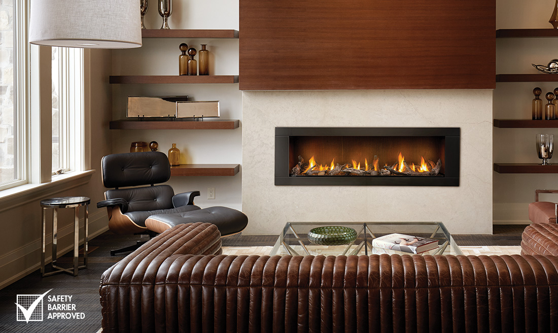 Direct Vent Fireplaces are factory built and their venting can be routed directly through a wall to the outside, using rigid or flexible venting.