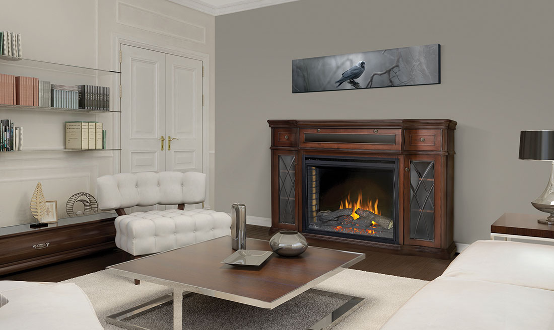 Electric Fireplace electric fireplace mantel : The Colbert Electric Fireplace Mantel Package by Napoleon | NEFP33 ...