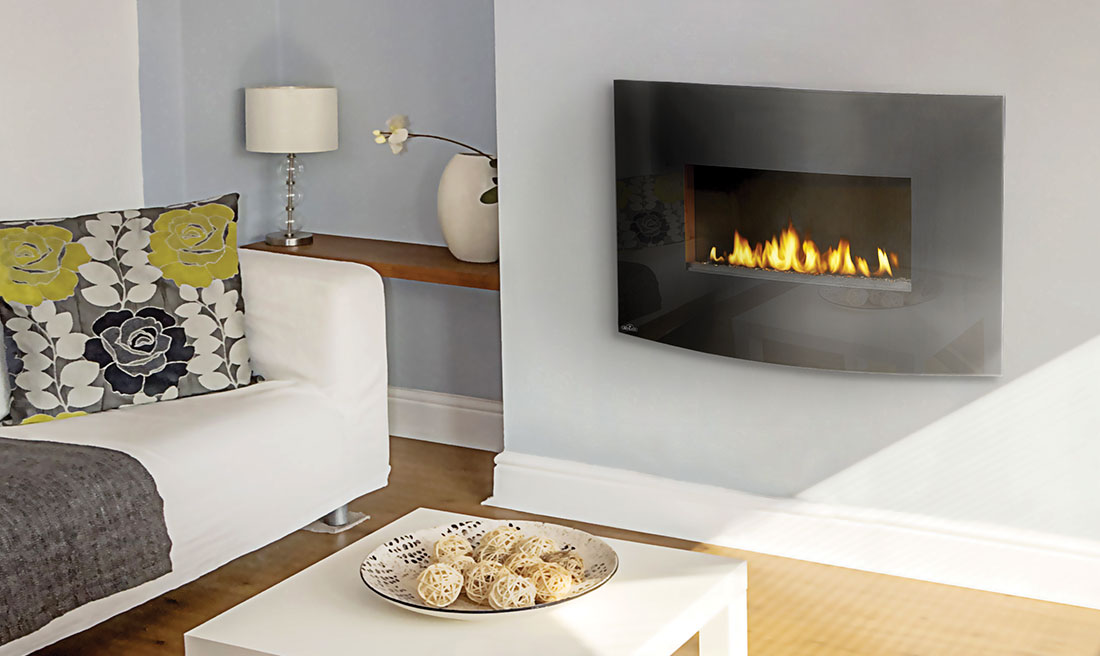 free modern contemporary ventless insert vent gas fireplace