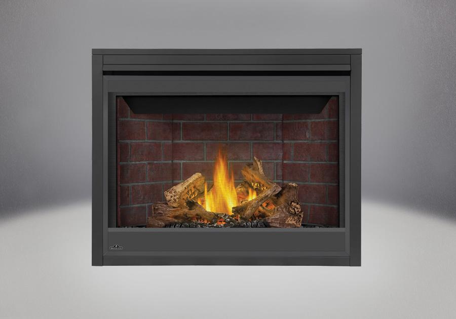 PHAZER<sup>®</sup> Log Set, Decorative Brick Panels Old Town Red Standard, Standard Safety Barrier