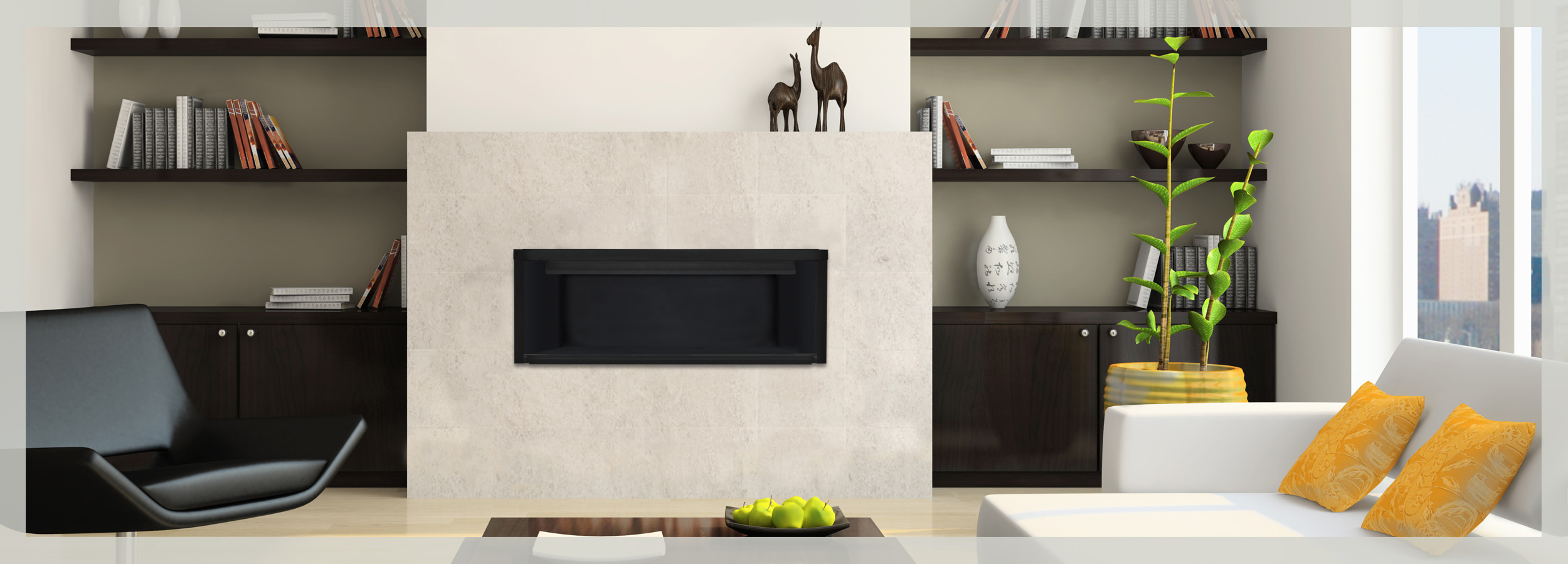 fireplace slider