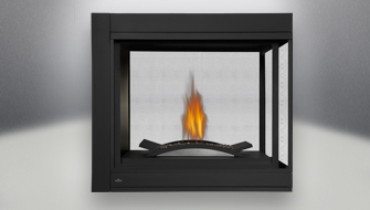 Ascent Multi View Peninsula Gas Fireplace