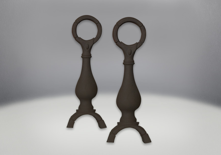 Andirons Painted Black Finish (2 Kits required if installing both sides)