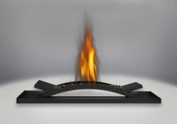 Designer Fire Cradle with Topaz Glass Burner