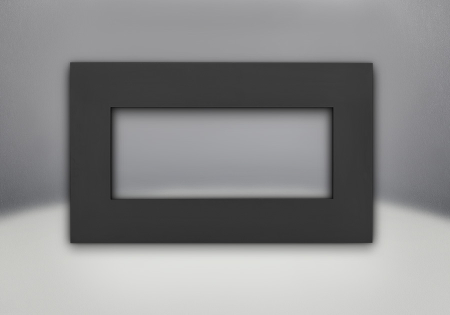 painted black faceplate - Natural Gas Fireplace Insert