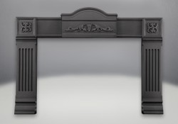 Cast Iron Surround Painted Black Finish