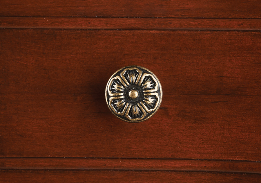 Distressed Brass Knobs