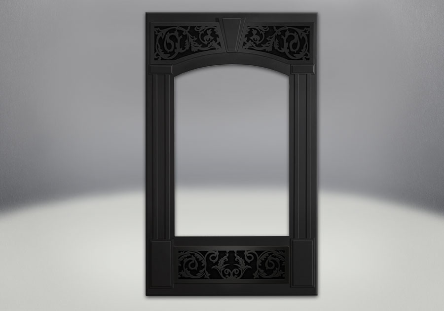 Traditional Facing Kit in Painted Metallic Black Finish with Painted Metallic Black Ornamental Insets