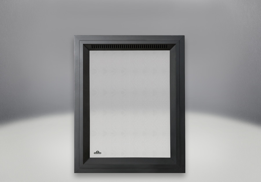 Rectangular Facing Kit Painted Black with Safety Barrier