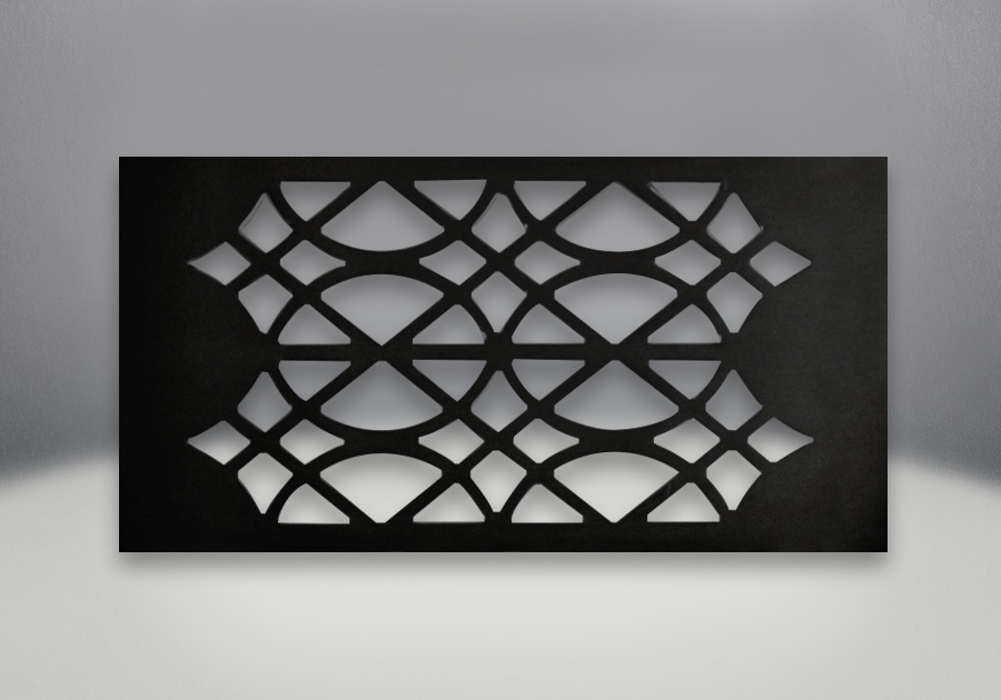 Trivet Metallic Painted Black Finish