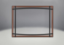 Classic Resolution front shown with overlay in brushed copper and black curved accent bars, complete with safety barrier