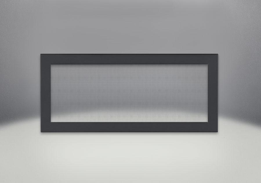 Flush Frame with Safety Screen, Powder Coat Black