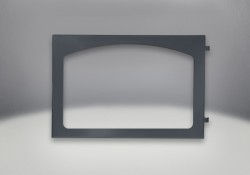Arched Door Painted Black