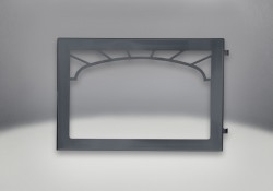 Webbed Arched Door Painted Black