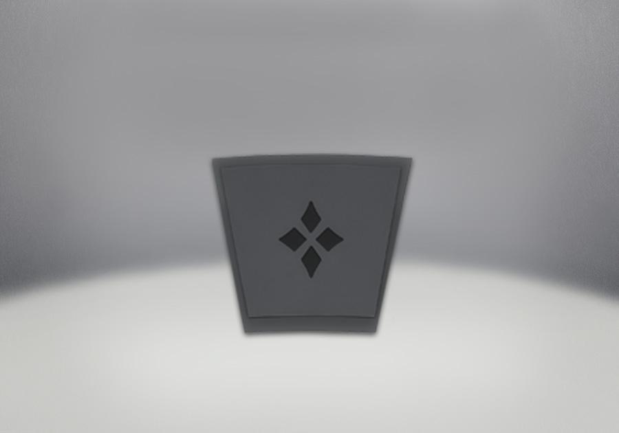 Keystone, Painted Black Finish