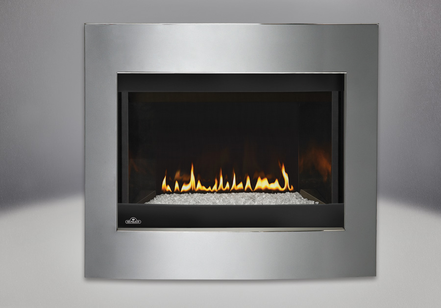 Convex Diamond Dust Surround, MIRRO-FLAME<sup>™</sup> Porcelain Reflective Radiant Panels, Glass Media Kit –  Clear