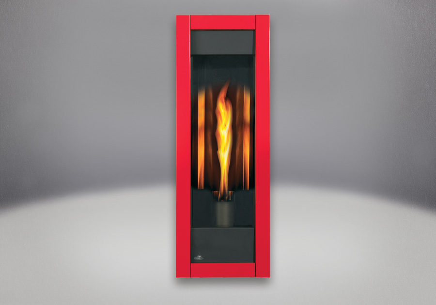 MIRRO-FLAME<sup>™</sup> Porcelain Reflective Radiant Panels, Red Front