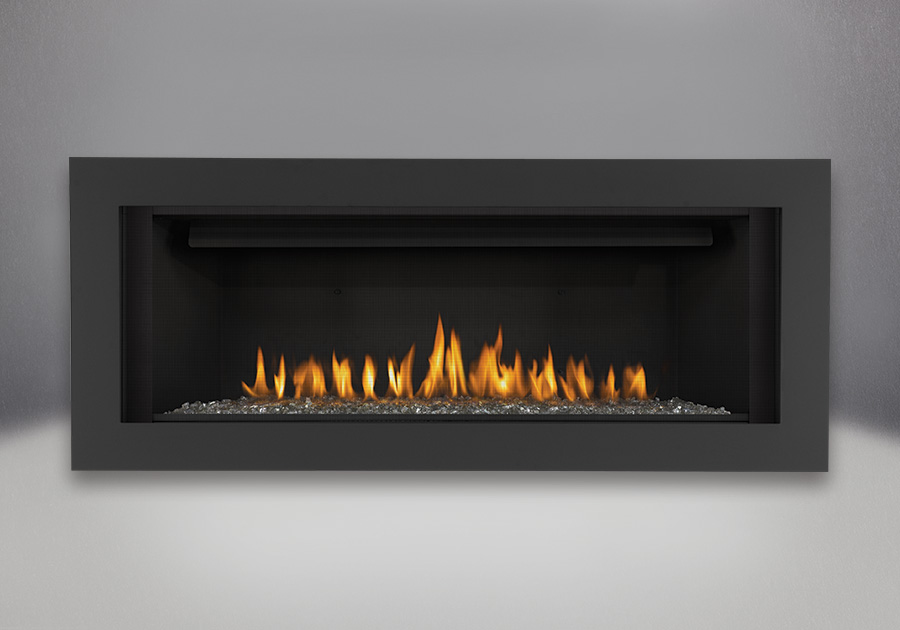 Topaz CRYSTALINE<sup>™</sup> Ember Bed, Basic 4-Sided Surround - Painted Black