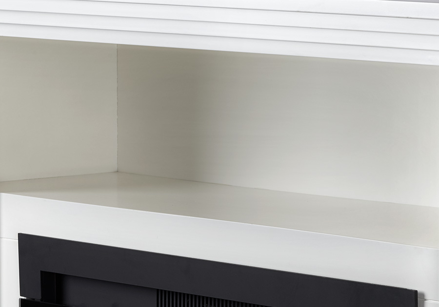 Open Compartment for Electronic Media Components