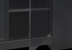 Smoke Tempered Glass Doors