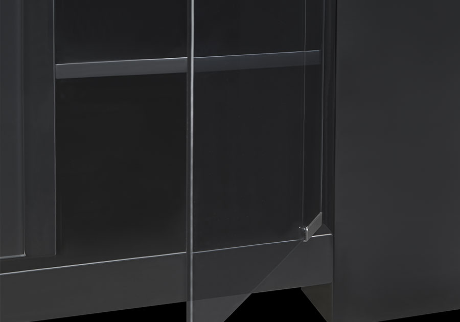Smoke Tempered Glass Doors
