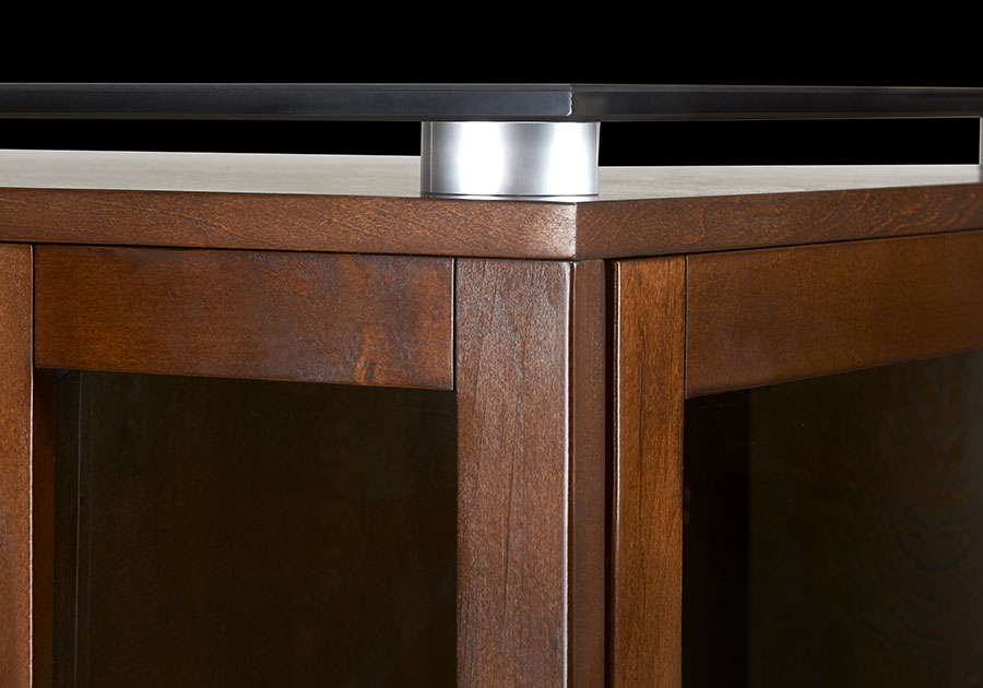 Brushed Aluminum Round Accent Posts