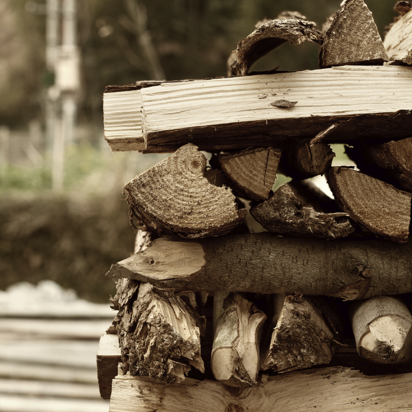 2. Stack em high - How To Start A Wood Fire In A Stove Or Fireplace Insert