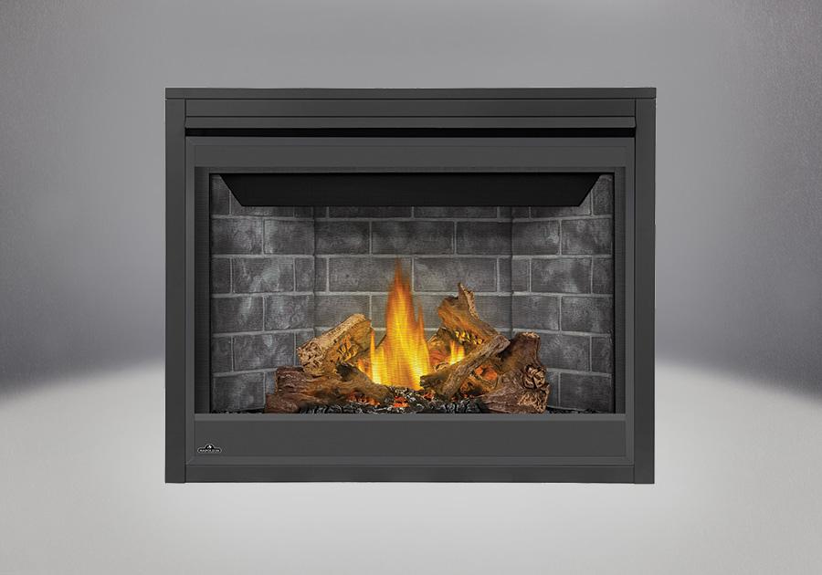 PHAZER<sup>®</sup> Log Set, Decorative Brick Panels Westminster Standard, Standard Safety Barrier