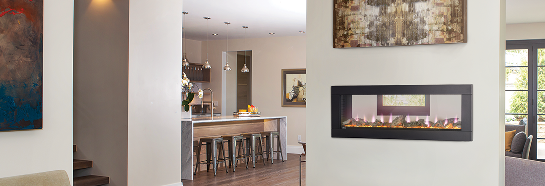 Pleasant Napoleon Clearion See Through Electric Fireplace Interior Design Ideas Skatsoteloinfo