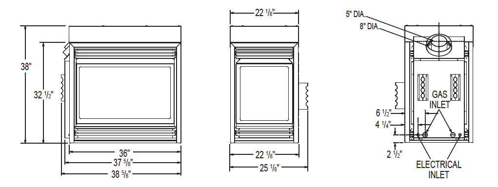 BGD40 Multi-View fireplace