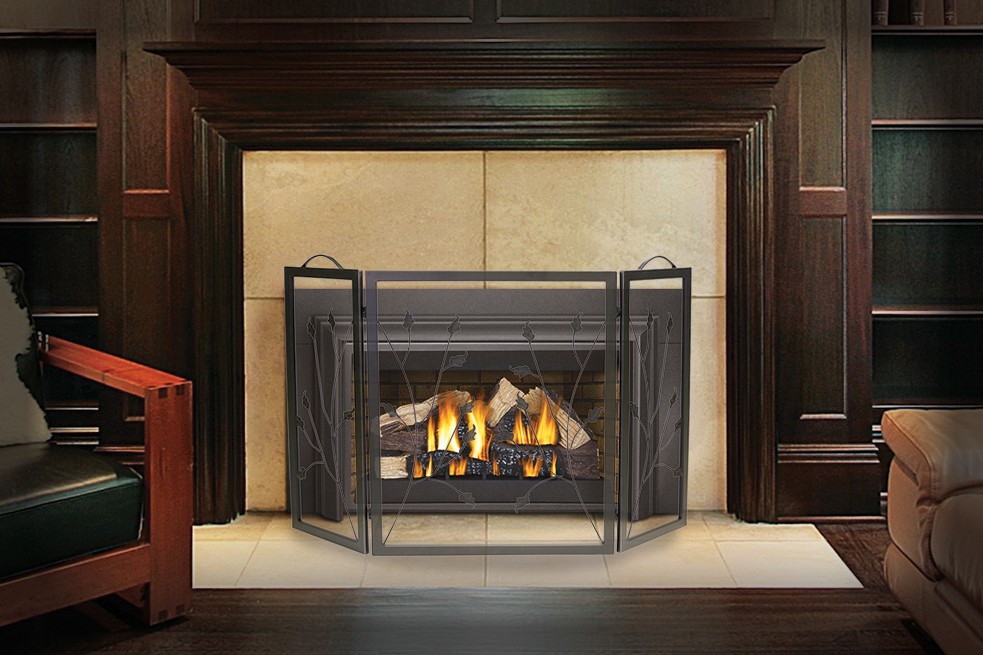 fireplace screens the importance of fireplace screens rh napoleonfireplaces com gas fireplace screen covers