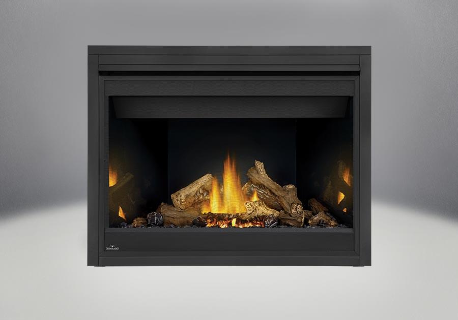 PHAZER<sup>®</sup> Log Set, MIRRO-FLAME<sup>™</sup> Porcelain Reflective Radiant Panels