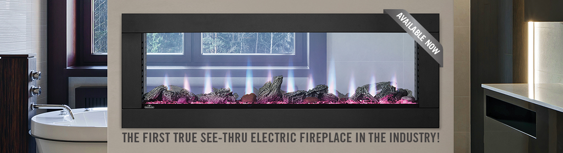 CLEARion | The first true see-through electric fireplace in the industry