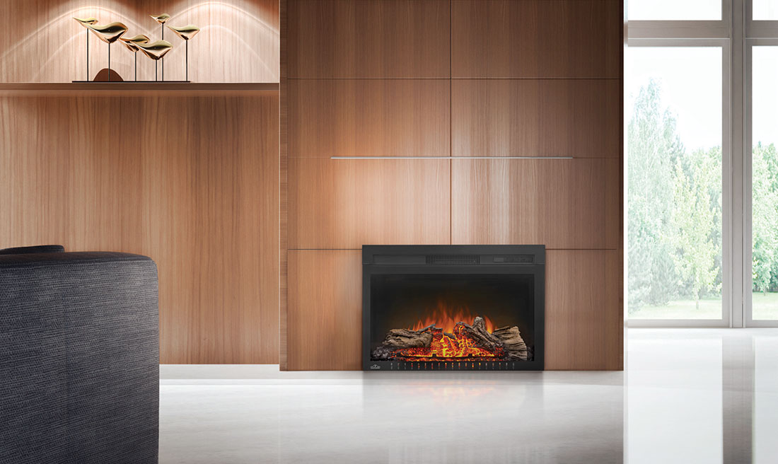 product fireplaces products main inserts napoleon image cinema log electric fireplace
