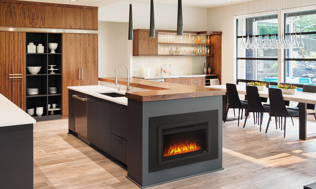 Cinema Glass 24 Electric Built-In Fireplace