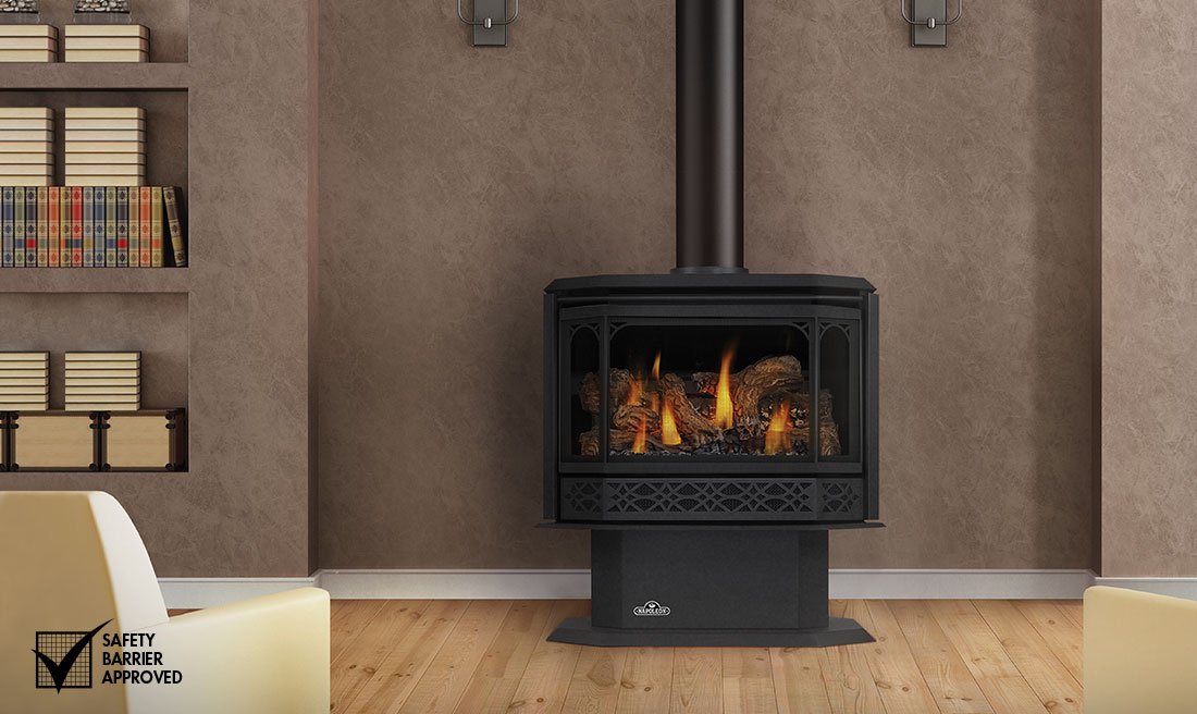 The Napoleon Havelock Gas Stove offers many benefits – a built-in blower