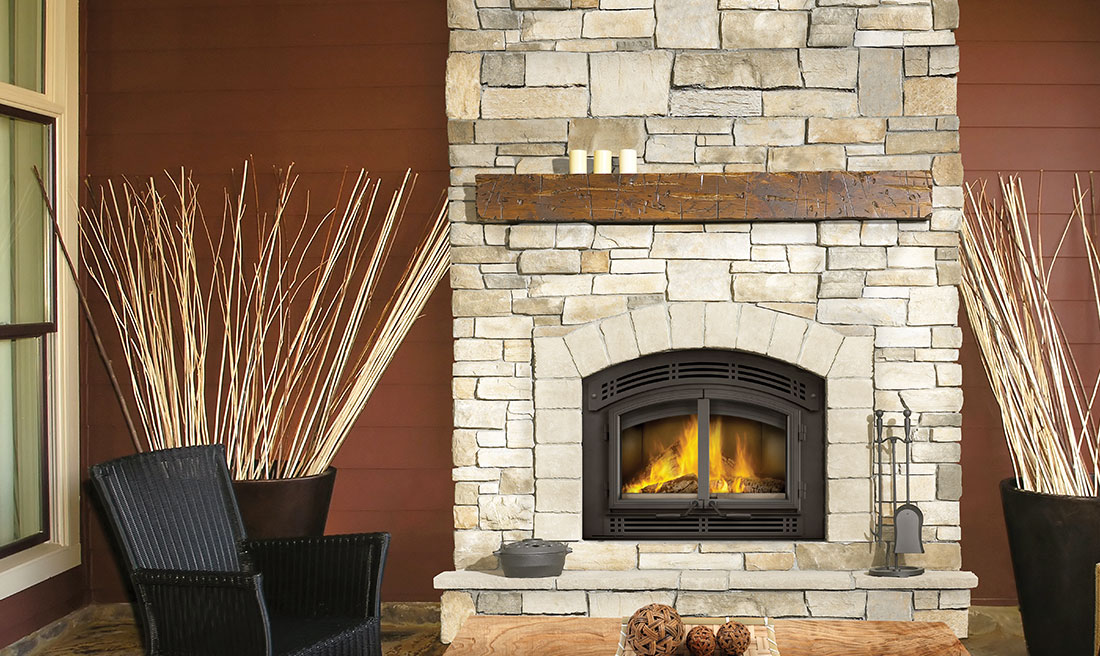 Napoleon's High Country 3000 Eco Wood Fireplace has changed to a catalytic fireplace