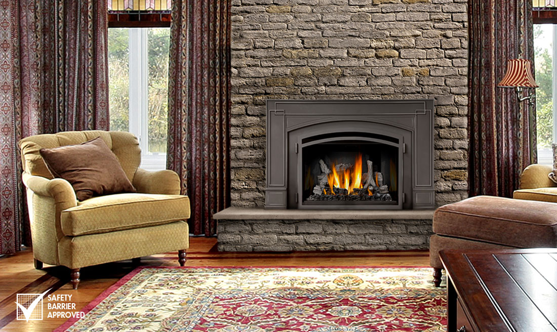 The Napoleon Infrared 3 Gas Fireplace Insert offers many standard features including Napoleon's IRONWOOD log set that fills your firebox with beautiful YELLOW DANCING FLAMES.