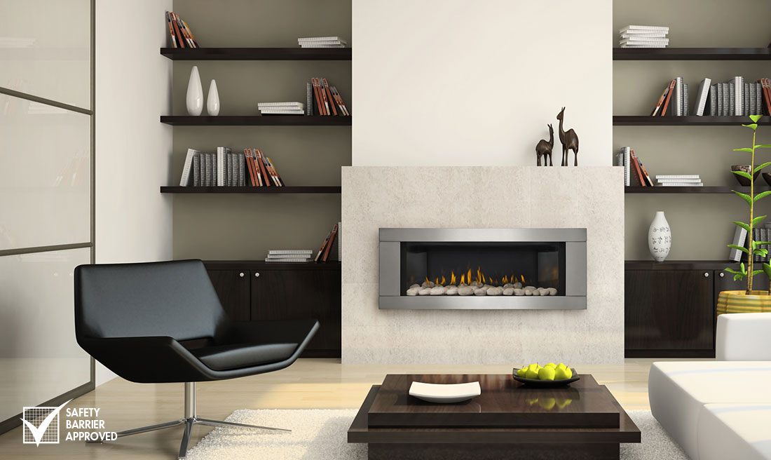 The Napoleon Linear 45 Gas Fireplace with its modern look is specifically designed to provide a sophisticated fireplace perfect for any project